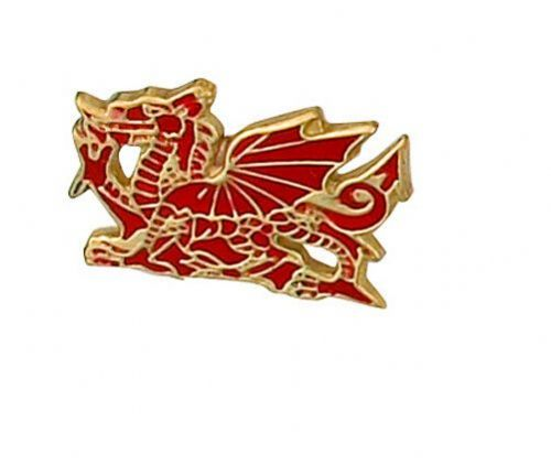 Welsh Dragon Lapel Pin Cravat Pin Gold Made To Order in Jewellery Quarter B''ham
